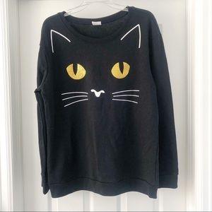 Spirit Halloween Cat Face Sweatshirt XL